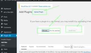 upload wp plugins