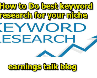 how to do best keyword reserch for your niche