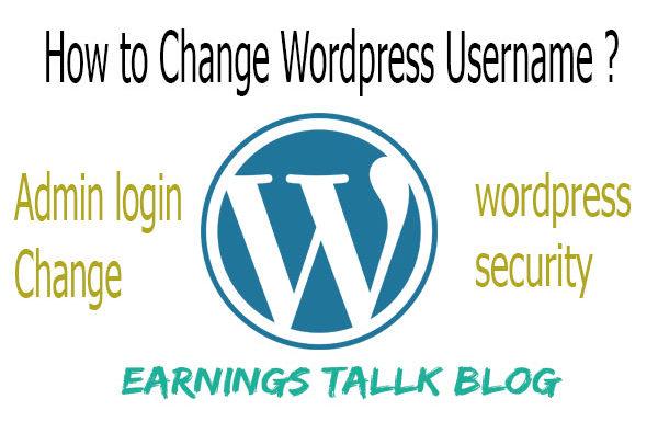 How to change wordpress username 2019   WordPress login changes