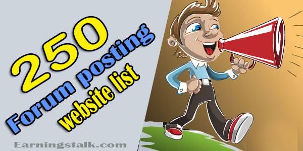 250 Top Forum posting sites list 2020 free | High DA PA website