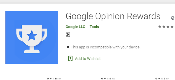 Google opinion rewards android apps for make money