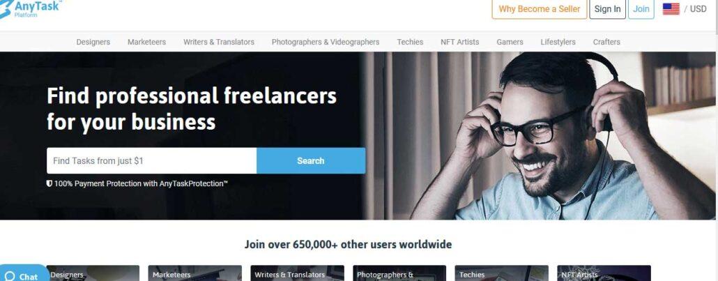 anytask-freelance-website